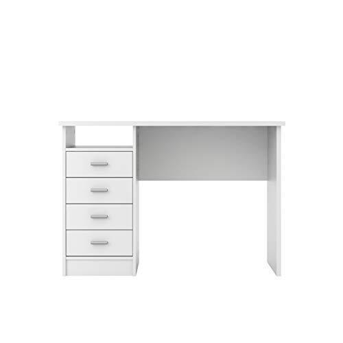 Tvilum Warner Desk with 4 Drawers, White
