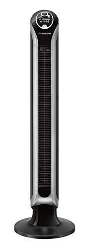 Rowenta Eole Infinite Digital VU6670F0 Ventilador de torre de pie de 1 m de alto con 3 velocidades, oscilación de 180°, indicador de temperatura LED y temporizador hasta 8 horas