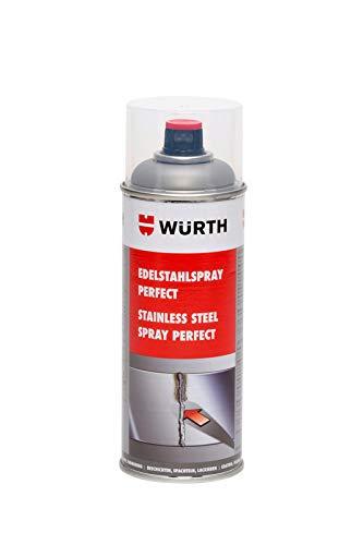 Würth Edelstahlspray Perfect - 400ml - Langzeitschutz und optimale Metall-Oberflächenoptik. Zur optischen Aufwertung, Ausbesserung und Schutz vor Korrosion von metallischen Oberflächen