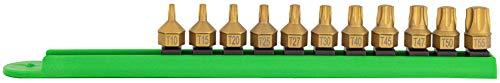Mayhew Tools 16003 Titanium-Coated Low-Profile Dual Drive Set, Torx, 11 Piece