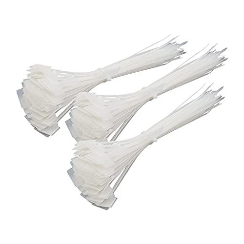 Vegena 250 Stck Kabelbinder Weiß, Kabelbinder Weiß Star Kabelbinder Weiß Breit Kabelbinder Weiß Lang, Kabelbeschriftung Kabelbinder Draht, Kabelmarkierer Beschriftbar (4 * 150 mm)