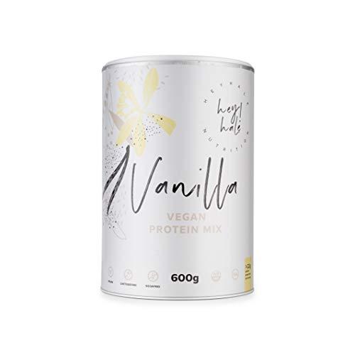 Heyhale ® - vegan protein mix Vanille (600g) - aus Erbsen- & Reisprotein - veganes proteinpulver