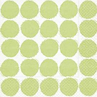 40 Paper Napkin Paper Serviettes (Set of 2) 3 Ply 33 x 33 cm Summer Sample (Big Dots Green)