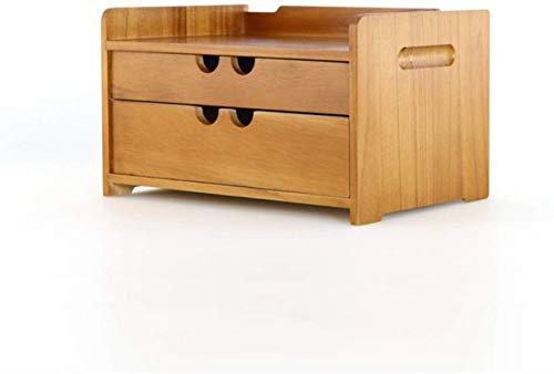 NYDZ Madera sólido Simple cajón de Almacenamiento Caja de cosméticos Caja de Almacenamiento Cajón Joyero Tipo Escombros taquilla de Almacenamiento (Size : 24 * 34.5 * 15.5)