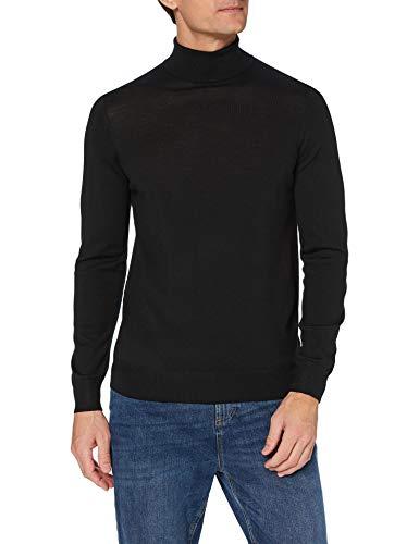 Marchio Amazon - MERAKI Pullover Lana Uomo, Nero (Black), S, Label: S