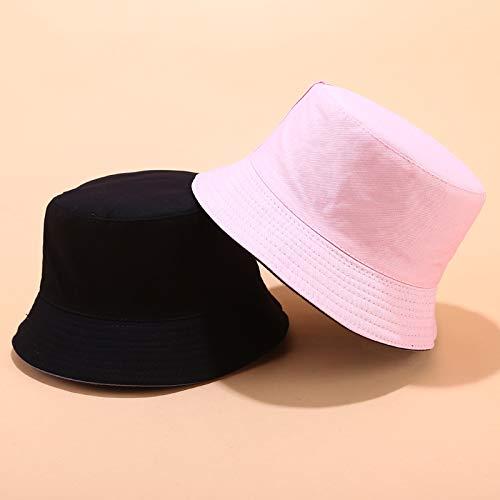 GPQHSM Gorra Venta de Sombreros de Pescadores Hombre Cubo Casual Sombrero Mujeres Sólido Reversible Sombrero Sombrero Sombrero Unisex Panamá Cap Sombreros y Gorras