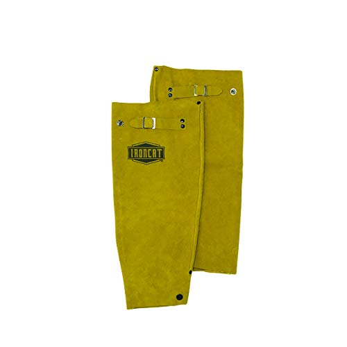 West Chester IRONCAT 7020 Heat Resistant Split Cowhide Leather Welding Sleeves: 18' Length, 1 Pair