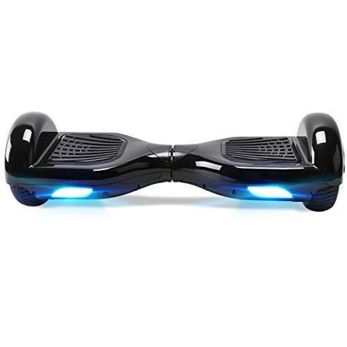 TOEU - Patinete Eléctrico Hoverboard, Ruedas de 6.5', Leds, Potente batería de Litio, Bluetooth, Self Balancing, monopatín eléctrico Auto-Equilibrio (Black-Bluetooth)