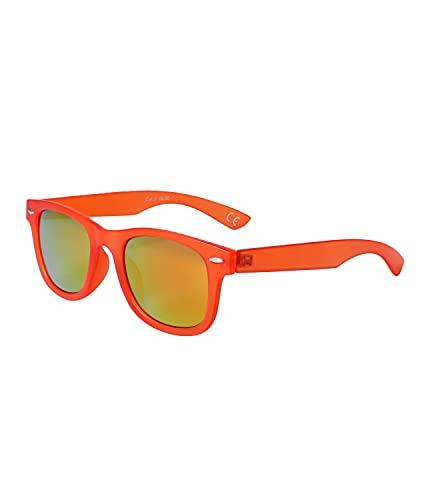 SIX Gafas de sol para niños mate con detalles remachados, lente de categoría 3, protección UV según DIN EN ISO 12312-1:2015 (630-013)