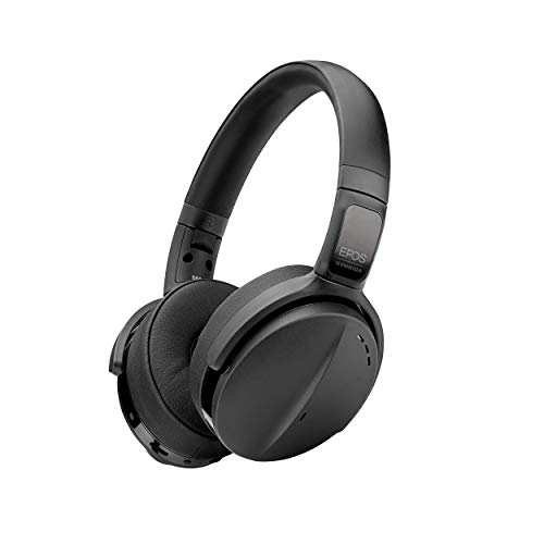 EPOS | SENNHEISER Adapt 563 (1000208) - Dual-Sided, Dual-Connectivity, Wireless, Bluetooth, Active Noise Canceling On-Ear Headset | Discreet Foldable Boom Mic | UC Optimized (Black)