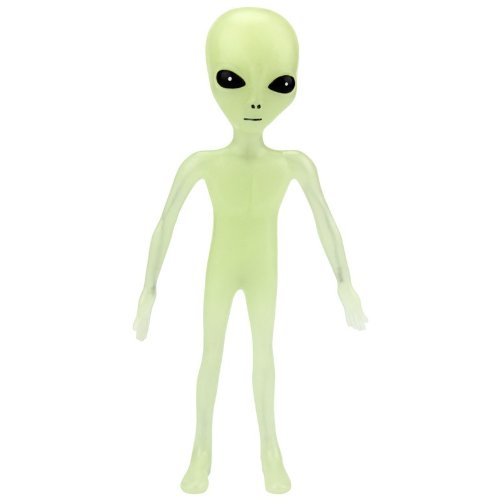 Off the Wall Toys Alien Glow-in-the-Dark 6' Bendable Action Figure Toy