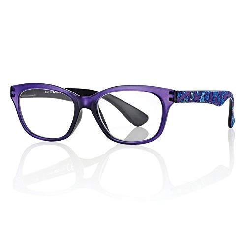Occhiali da Vista Premontati 60340 con Potere +1.00 di colore Viola e Blu