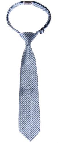 Retreez Cravate pour enfant avec nœud en tissu avec rayures gaufrées - Plusieurs couleurs - Gris - 6-18 mois