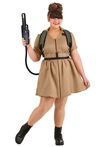 Disfraz de Cazafantasmas para mujer talla grande - marrn - 2X