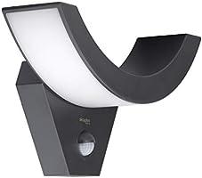 Luce esterna a LED con rilevatore di movimento Lima 10W | sensore per esterno lampada antracite IP54 | luce esterna a...
