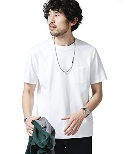 ナノ・ユニバース(nano・universe) Anti Soaked ヘビークルーネックTシャツ M ホワイト nano・u...