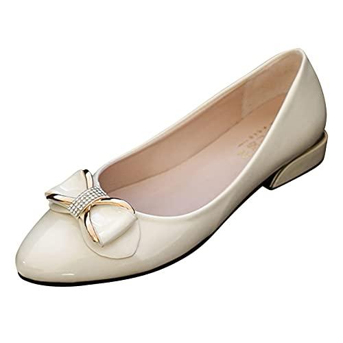 URIBAKY - Zapatillas de deporte para mujer con cordones y nudos, transpirables, transpirables, transpirables, para correr, para mujer, zapatos de deporte, beige, 39 EU