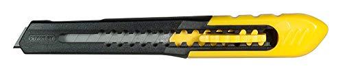 Stanley Messer SM Cutter 9 mm, Länge 130 mm, zweiteiliger Korpus, schneller Klingenwechsel, 1-10-150, mehrfarbig