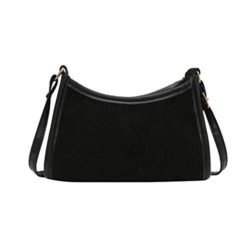 SANGSHI Y2K Bag Umhängetaschen, Damen Shopper Handtasche, Retro Frauen Achsel Tasche, Quadrat Reißverschluss Cord Umhängetasche, Damenmode Einfarbige Umhängetasche