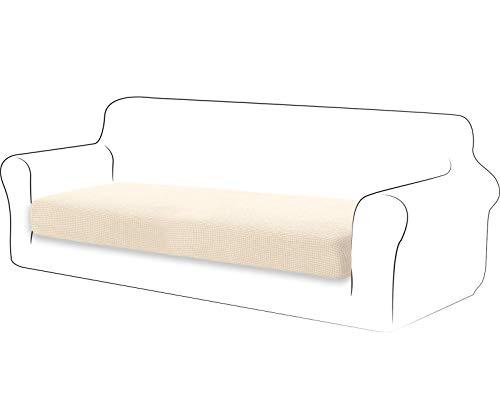 TIANSHU Fodera per cuscino ad alta elasticità Cuscino per divano Fodera per mobili Protezione per divano Coprisedile per divano Fodere per cuscino a 3 posto pezzo per sedia (3 posto, Avorio)