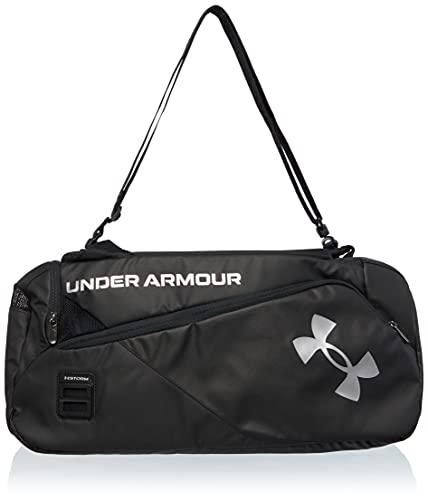 Under Armour Contain Duo Duffle Bag Sportsack, Schwarz/Schwarz/Metallic Silber (001), Einheitsgröße