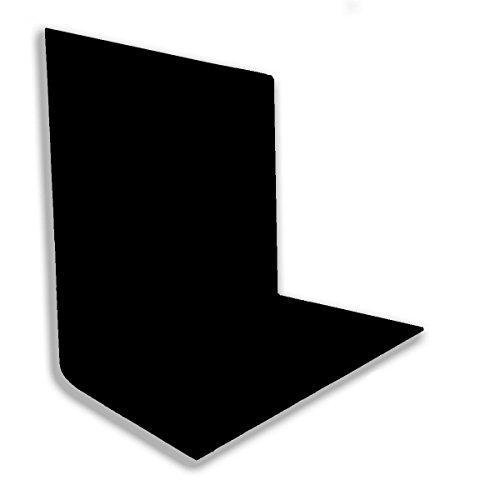 PhotoGeeks schwarz Musselin Hintergrund 3x 6m | Fotografie Studio Hintergrund