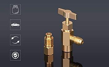 AIEX 6 Pezzi Refrigerante 6015 R134A Adattatore da Serbatoio a R12 Adattatore da 1//2 Femmina a 1//4 Maschio e 6014 Pompa per Vuoto da 1//4 Femmina a 1//2 Maschio