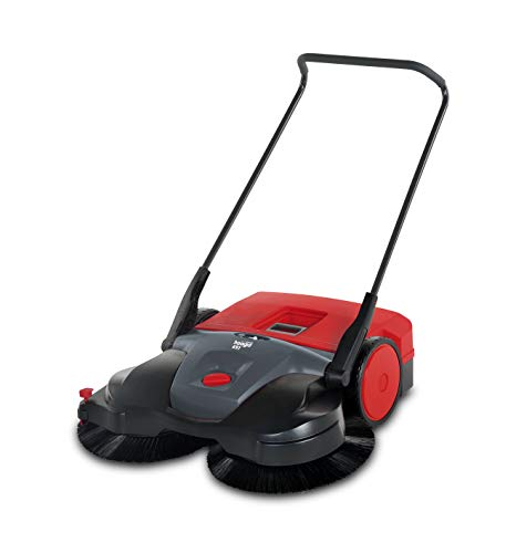 Haaga Handkehrmaschine 697 Profi Plus (mit akkubetriebenen Bürsten, egal ob nass, trocken, Sand oder Getränkedosen, geeignet für Flächen ab 200 m²) 100180