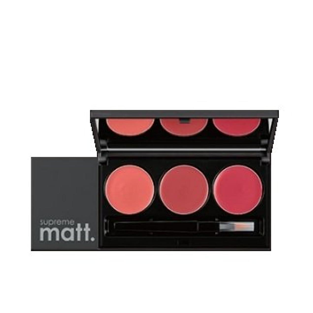 罰するセレナ長方形[サンプル] MISSHA Supreme Matt Lip Rouge Lip Palette / ミシャ シュープリームマットリップルージュリップパレット [並行輸入品]