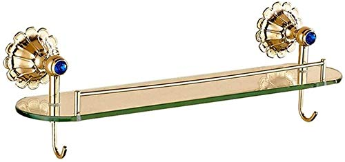 Badkamerrekken, kantoorgebruik, glazen wanden, home keuken, kruidenrekken, ophangplank, zeep, handdoekhouder, (kleur: B, grootte: 50,5 x 13 cm) 50.5*13CM A