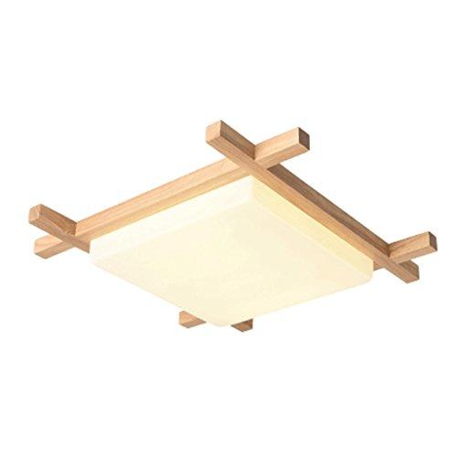 Plafondverlichting HSJ LED houten plafondlamp garderobe studie houten lampen Scandinavische slaapkamerverlichting