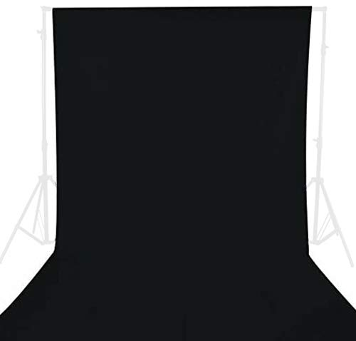 GFCC 10ftx10ft Black Backdrop Background for Photography Black Photo Booth Backdrop for Photoshoot Photography Background Screen Video Recording Parties Curtain