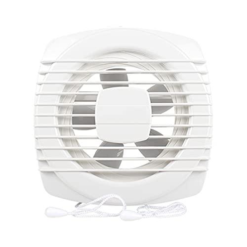Fans de ventilación Inicio Trazado de escape Ventilador de escape 6 '8' Tipo de ventanilla Ventilación Ventilación Ventilador Doble cordón MUTE Persianas Aumento de escape, Blanco, 2 4W, 153CFM Ventil