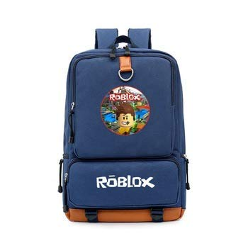 Easy Home Direct Kids Roblox Backpack Canvas Day Pack Backpack School Book Bag Laptop Backpacks for Boys Girls Kids Teenage Game Fans Gift