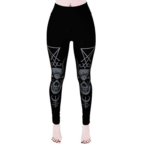 Dasongff Gothic Leggings Dameslegging Zwart Dasongff Built for Comfort Leggings stoffen broek Slim Skinny broek stretch broek