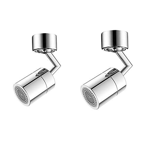 YANGPING HONGHUAER 720 Grados Universal Splash Filtro Faucet Movible Cocina Cuarto de baño Tap Agua Ahorro Boquilla Pulverizador Splash-Proof Extenstender (Color : 2Pcs)