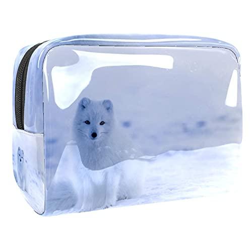 Bolsa de cosméticos para Mujer Snow Tiger Adorable y espaciosa Bolsas de Maquillaje de Viaje Impermeable Bolsa de Aseo Accesorios Organizador 7.3x3x5.1 Pulgadas