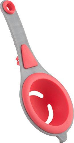 Trudeau 09915007 Separador de Huevos Silicona, Color Gris y Rojo