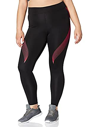 Marca Amazon - AURIQUE Bal181la18 - leggings deporte mujer Mujer, Negro (Black/love Potion), 38, Label:S