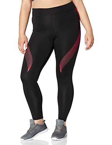 Marca Amazon - AURIQUE Bal181la18 - leggings deporte mujer Mujer, Negro (Black/love Potion), 38, Label:S