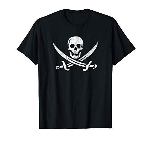Calico Jack Sword Pirate Flag Jolly Roger Pirata Graphic Camiseta