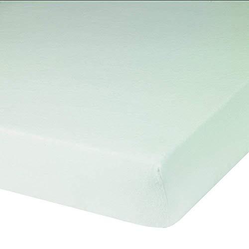 Blanc des Vosges Molleton 220gr/m² imperméable Alèze Housse, Coton, Blanc, 140x190 cm