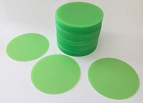 Vogt Foliendruck GmbH 100 Bierdeckel Untersetzer grün Kunststoff Polypropylenfolie abwischbar Durchmesser 9,9 cm