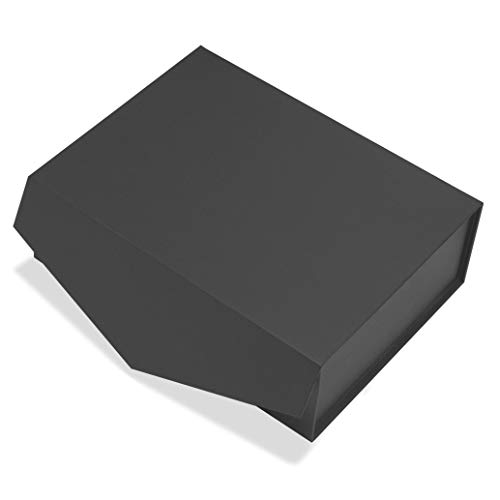 Cohaja Matte Black Gift Box with Lid   3 Pack   12 x 9 x 4 Inch   Magnetic Closure   Multiple use   Decorative Gift or Storage Boxes for Bridesmaid and Groomsmen Proposals, Weddings, Office and More