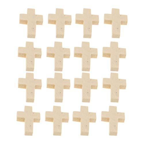 100 Uds, Colgantes de cruces de madera, dijes de cruces de bricolaje, colgantes cruzados, cuentas, hallazgos de joyería para pulsera, collar, pendiente, fabricación de joyas