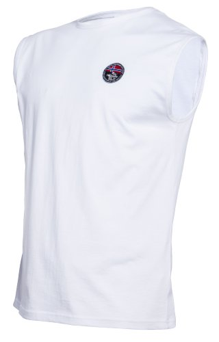 Nebulus 2er Pack UNTERHEMD Murry, Herren, weiß, Baumwolle, Shirt, T-Shirt, Größe XXL (Q512)
