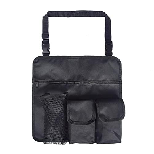 Incdnn Sac à goûter avec 4 poches pour chaise de camping pliable - Organiseur de chaise de plage - Accoudoir de rangement