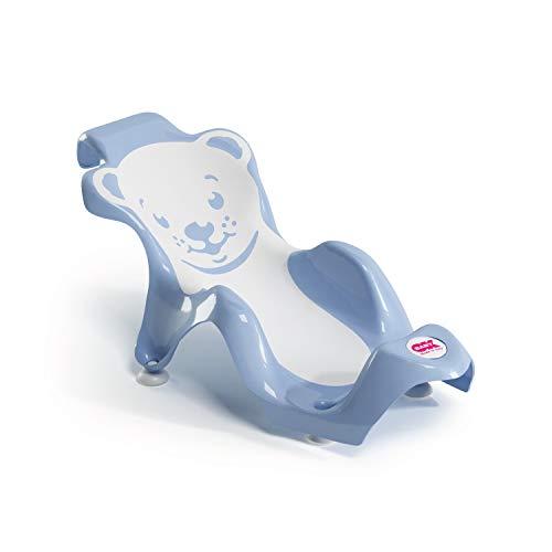 OKBABY Buddy - Sdraietta Anatomica con Seduta in Gomma Antiscivolo per il Bagnetto del Neonato 0-8 Mesi (8 kg) - Azzurro