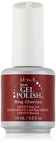 IBD Just Gel UV Esmalte de Uñas, Tono Bing Cherries