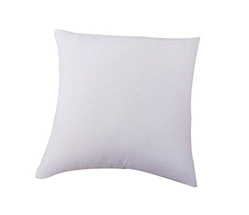 Vi.yo Coussin carré épais pour canapé, maison, bureau, bar, voyage - En polypropylène - Blanc - 60 x 60 cm